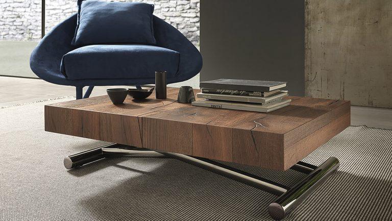 tavolino rettangolare allungabile in tavolo da pranzo calypso in legno laccato nobilitato effetto malta 1